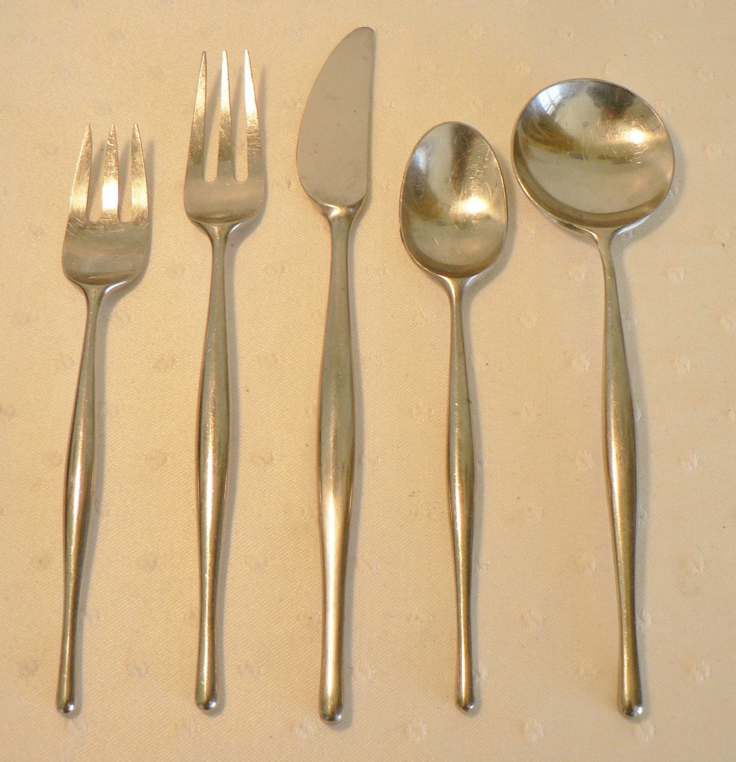 Items similar to mid century modern open stock towle lauffer stainless flatware design 3 norway - Contemporary stainless flatware ...