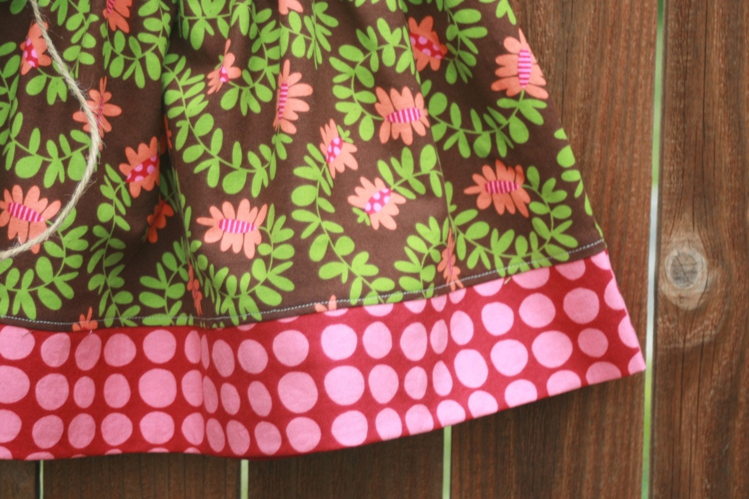 Meandering Vines Twirly Skirt - CUSTOM sizes 12 months to 8Y