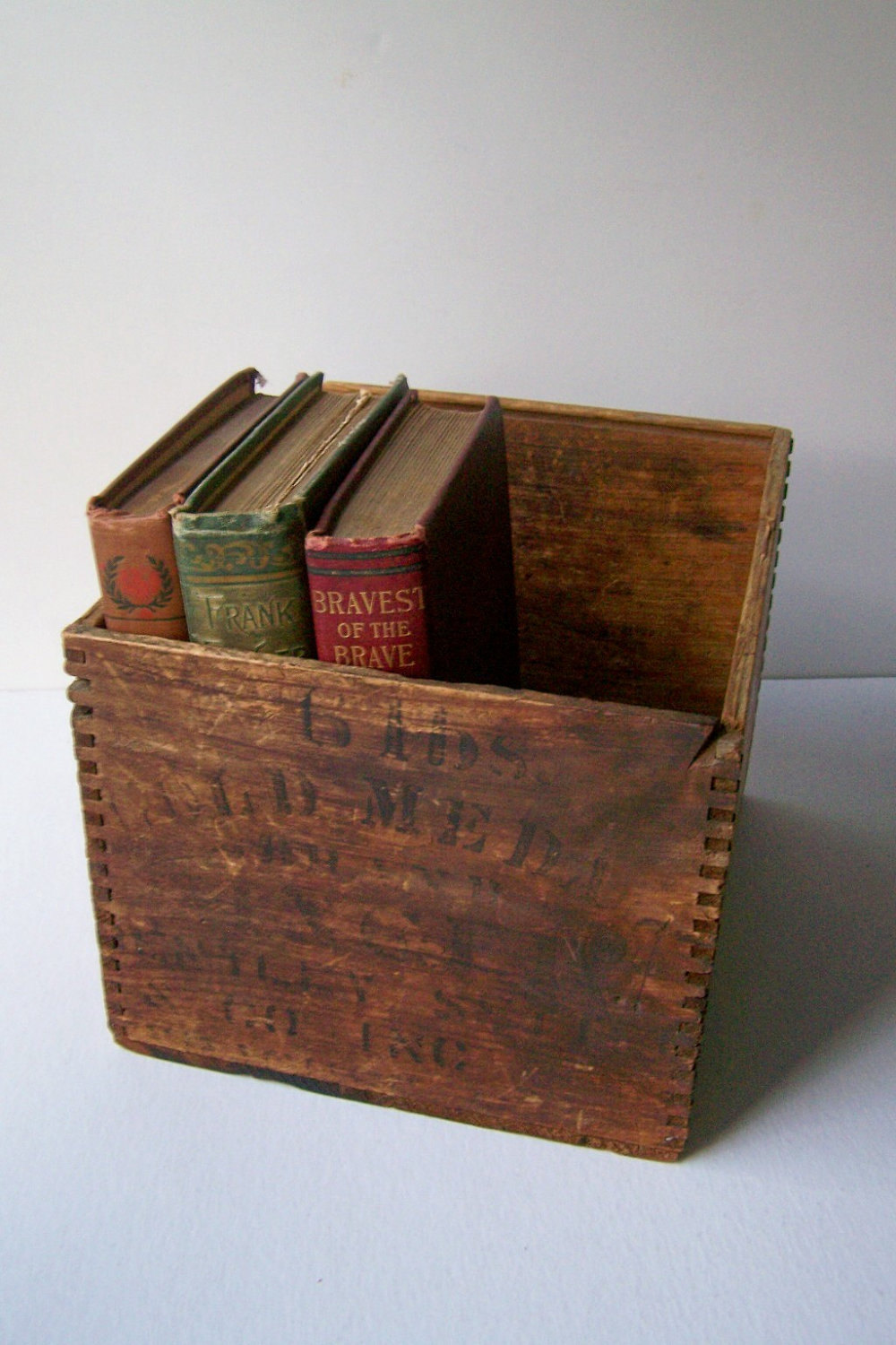 Antique Wooden Box Rustic Farmhouse Industrial