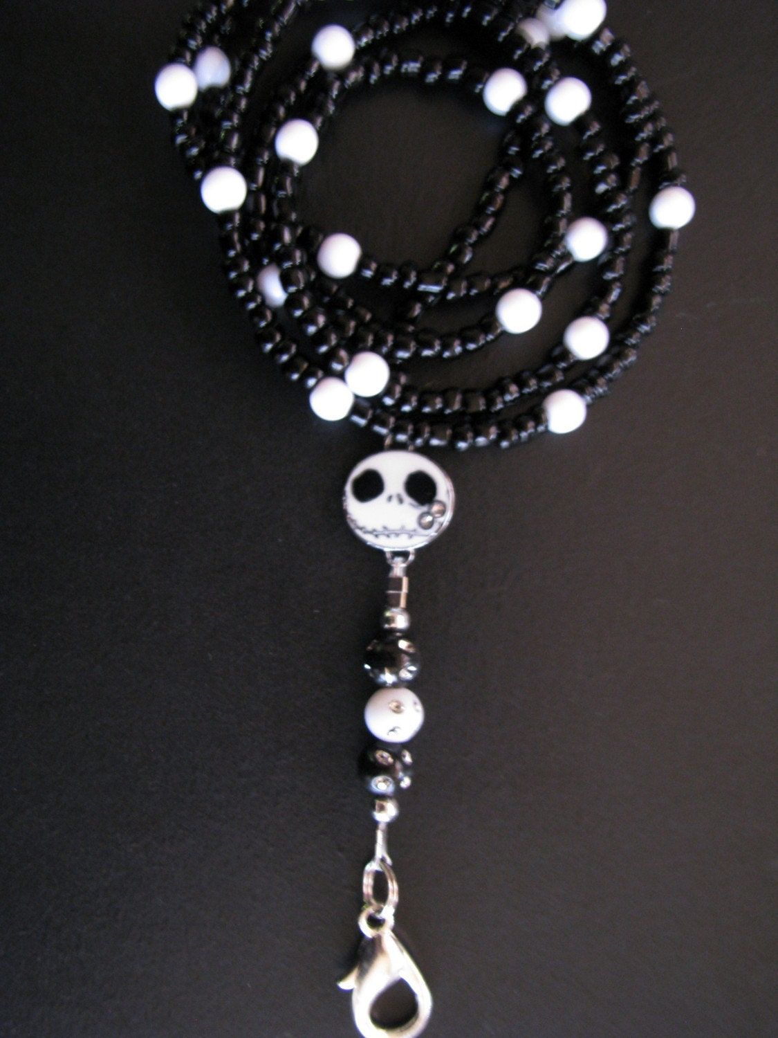 Nightmare Before Christmas Beaded Bling Lanyard by SpazzysDelights
