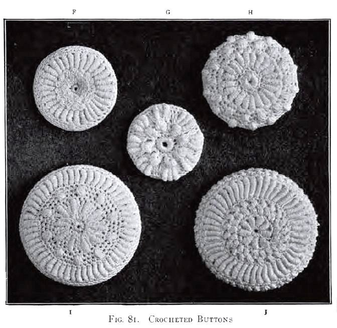 Free Vintage Irish Crochet Patterns : Crochet Buttons Antique Vintage 1912 Irish Crochet by ...