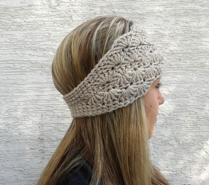 Free Crochet Pattern Headband Ear Warmer : Crochet Ear Warmer Winter Headband Womens Crochet by ...