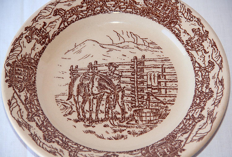 Vintage Western Dinnerware 44