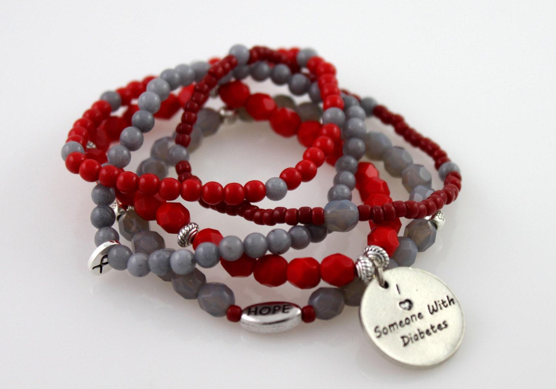 juvenile diabetes awareness bracelet by starzjewelry on etsy
