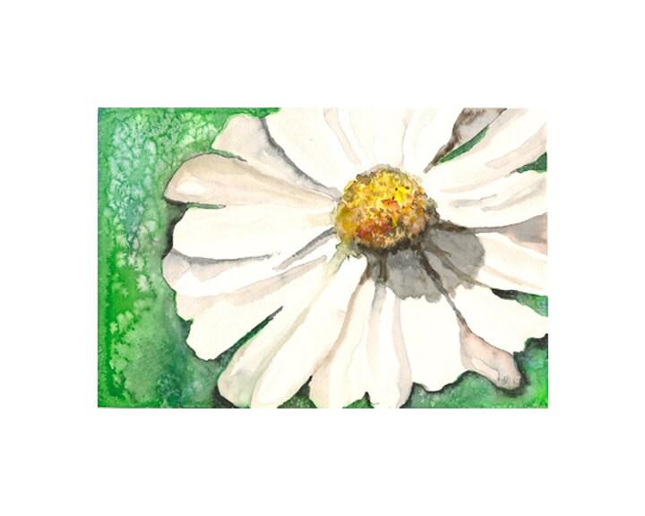 """Watercolor print: """"Daisy"""", by estudio arbitrario - estudioarbitrario"""