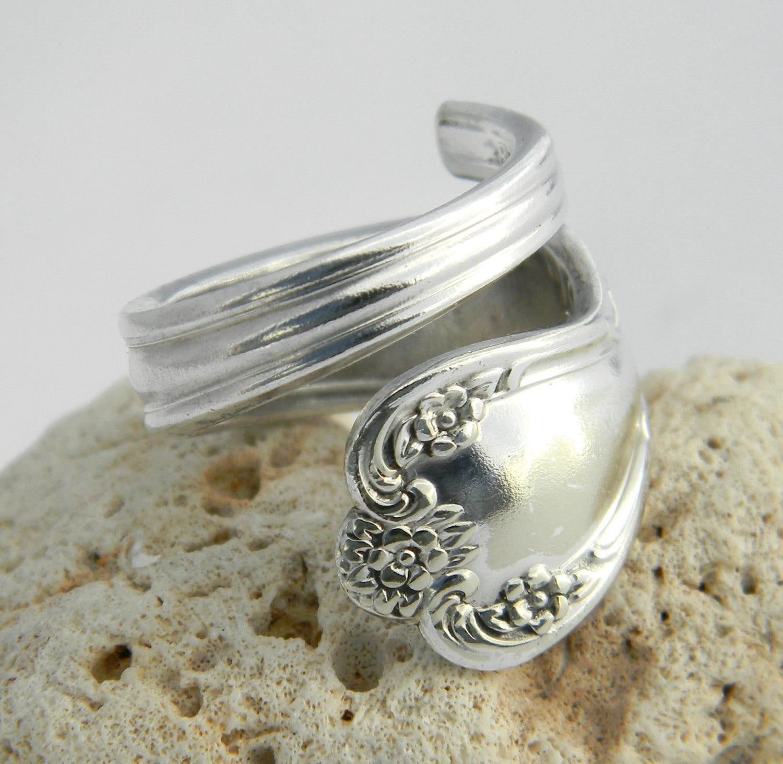 silver spoon ring daybreak aka by californiaspoonrings