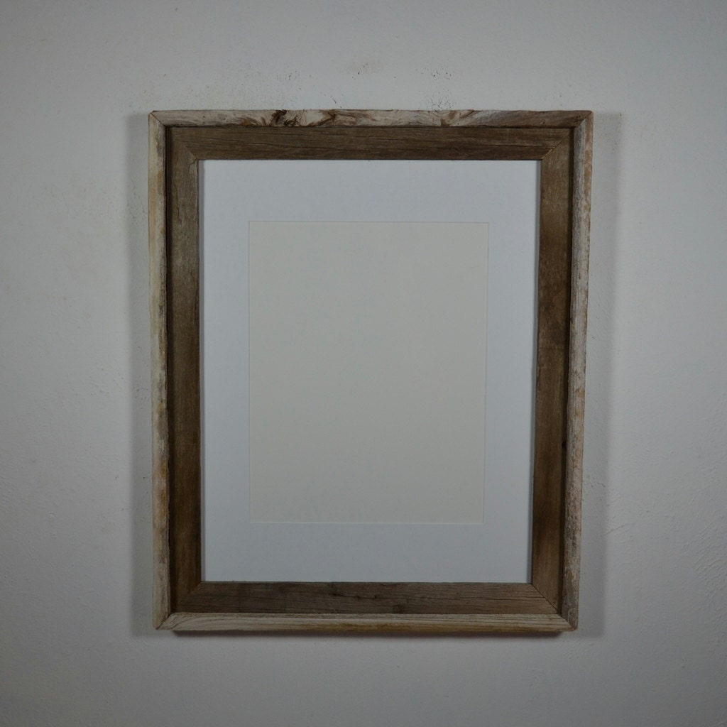 Picture frame eco friendly barnwood 16x20 with white by for 16x20 frame