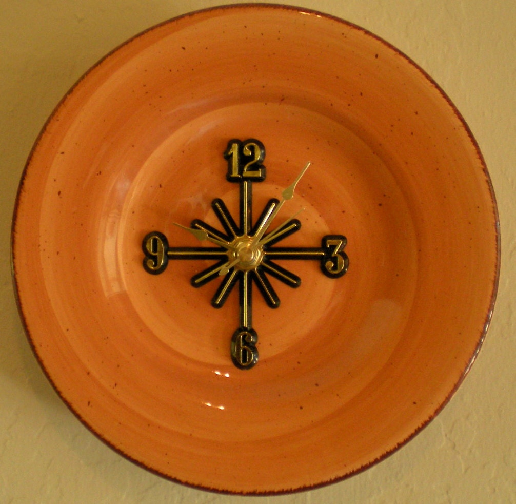 SALE Wall Clock in Harvest Orange - ATreasureInTime