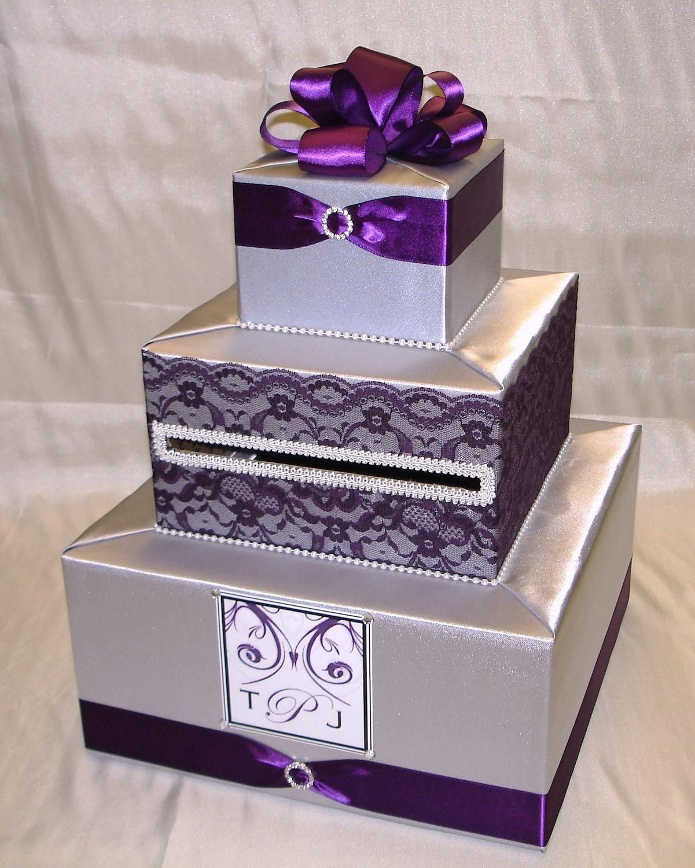 Wedding Cake Card Holder Box