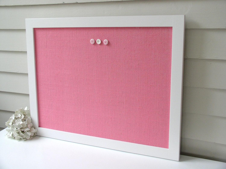 Modern magnetic burlap bulletin board 20 5 x by for Modern cork board