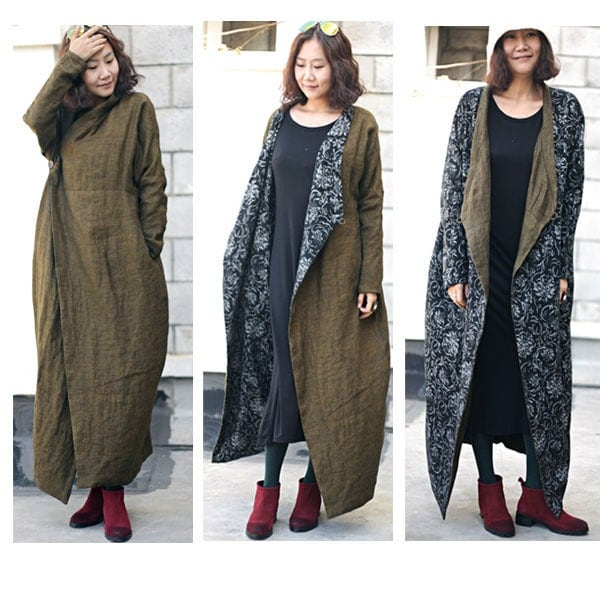 Brilliant Wool Coat Dress Long Double Breasted Peacoat Women Jacket Trench Coat