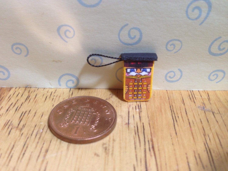 Hand made Dolls house Miniature replica electronic little professor calculator  112 scale