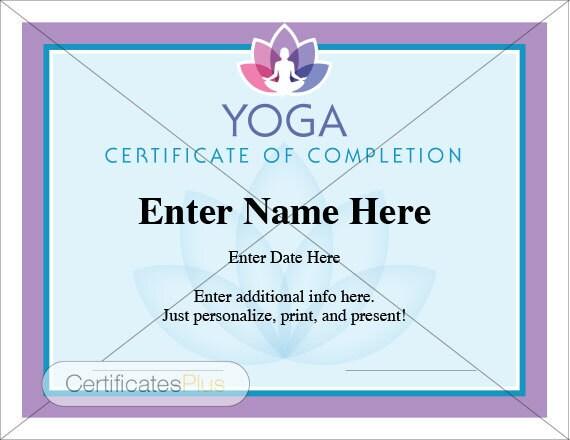 Yoga Gift Certificate Template Datariouruguay