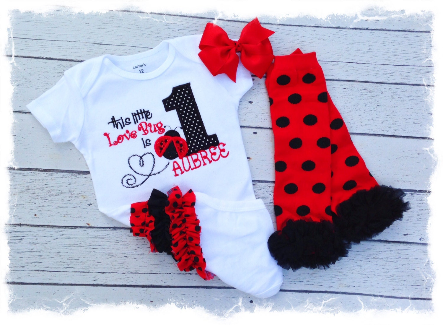 foto de Girls 1st Birthday Ladybug Outfit with by BetterThanBows