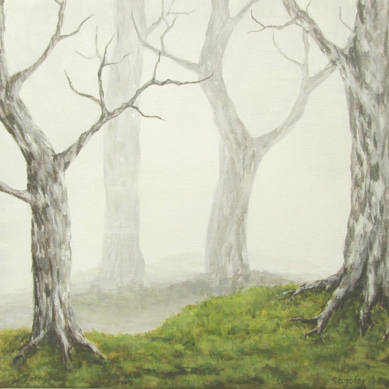 Acrylic Painting Video On Creating Mist