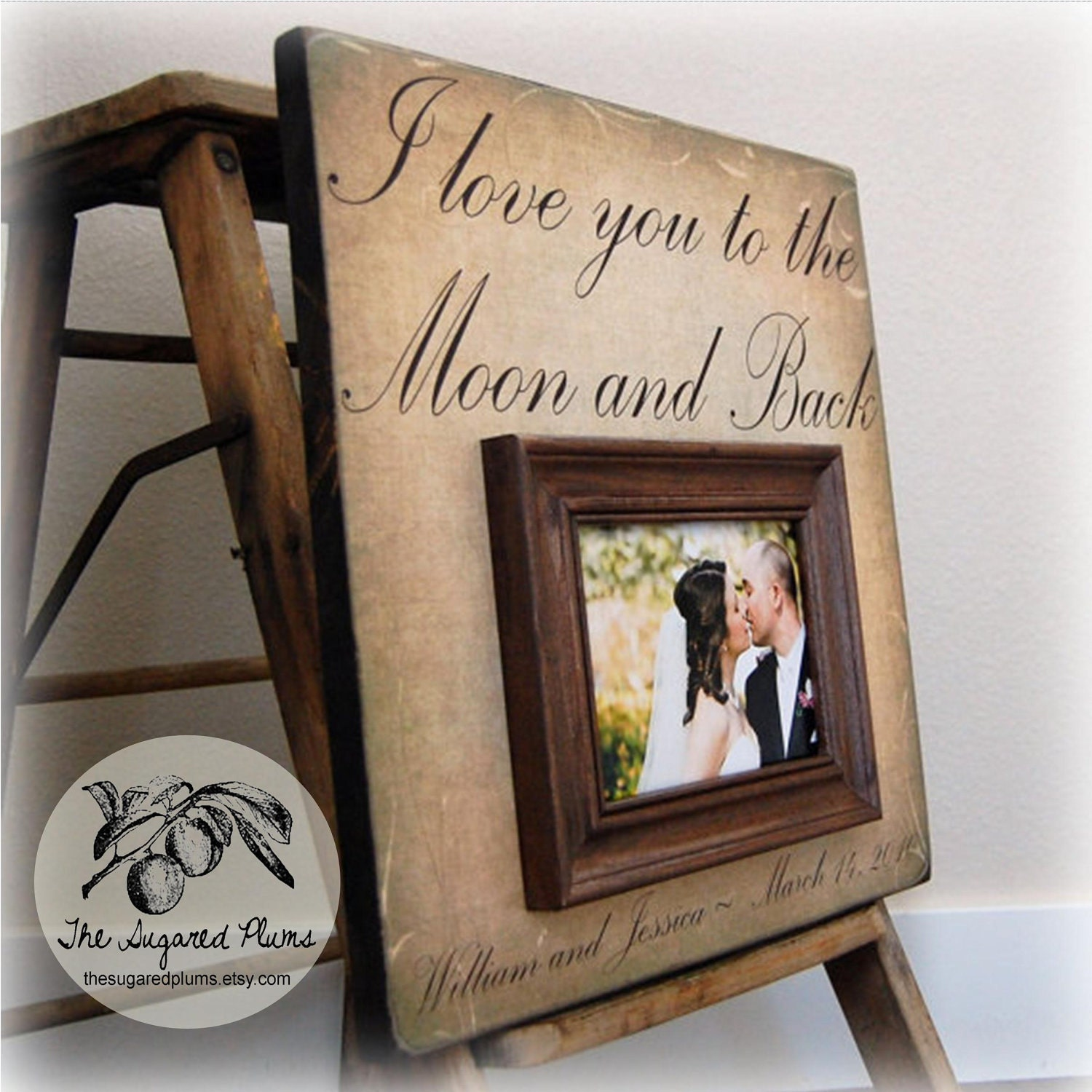 Wedding Gift Personalized Picture Frame : Anniversary Gift Personalized Picture Frame Custom Frames 16x16 I Love ...