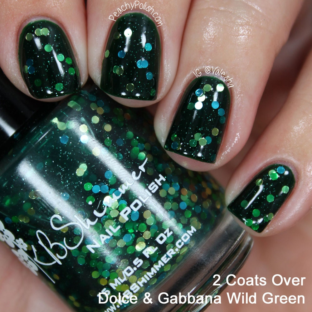 Get Clover It Glitter Nail Polish Green Jelly With By