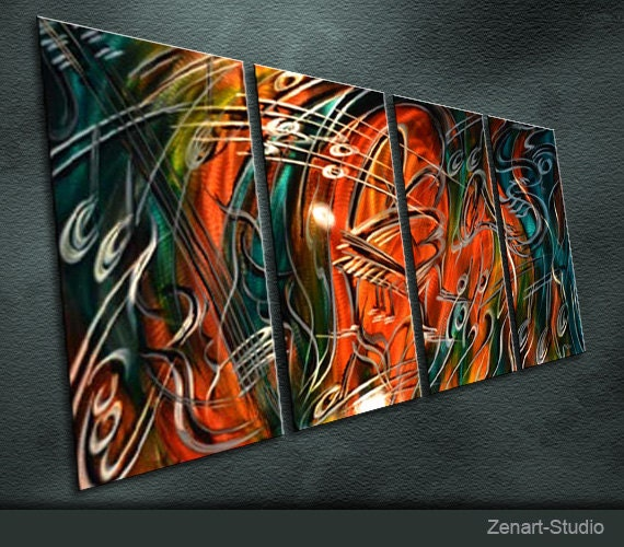 Modern Original Metal Wall Art Painting Sculpture Decor The Sound Of