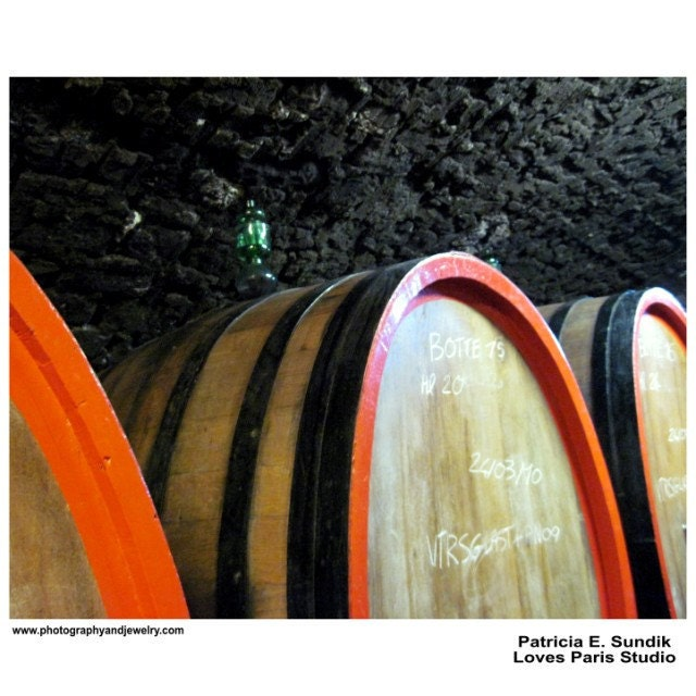 Wine Barrels Photo, Chianti Wine Barrels, Tuscany, Italy,  20 x 16,  Fine Art Poster Print