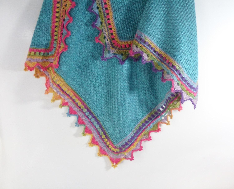 Örme Bebek Battaniye - Mavi