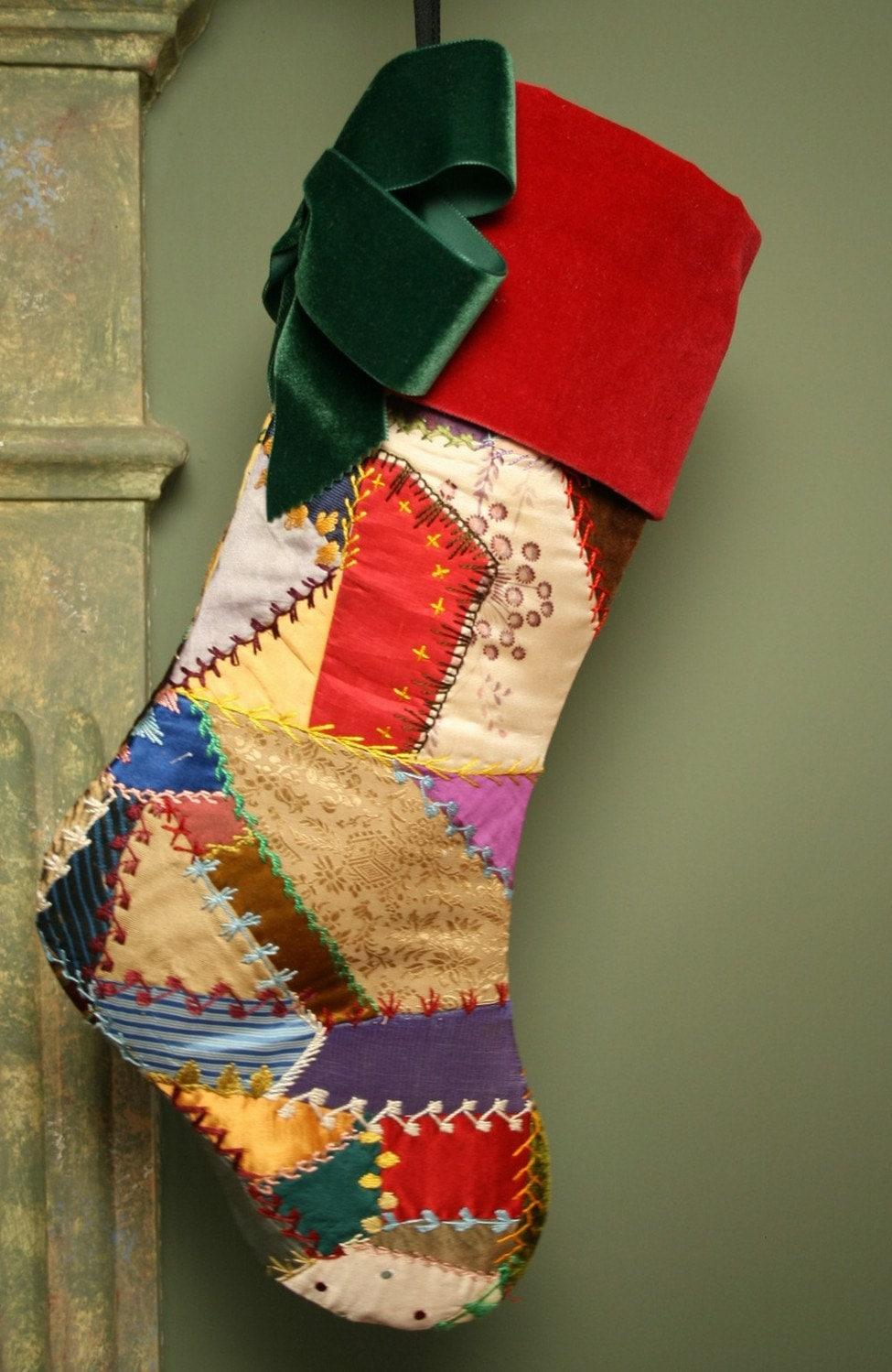 Элегантный античный шелк и бархат 1889 лоскутное одеяло Простые украшения