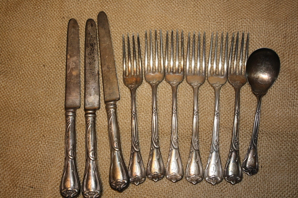 reed and barton silverware set modern art 10 by