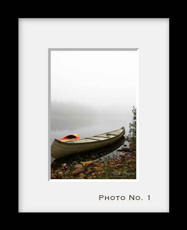 Canoe Kayak, Namur, Quebec, Canada - Morning Mist - Fine Art Photograph - Cottage, Cabin Decor - Also as iPhone case 4, 4s, 5, 5s - HPaquinPhotography