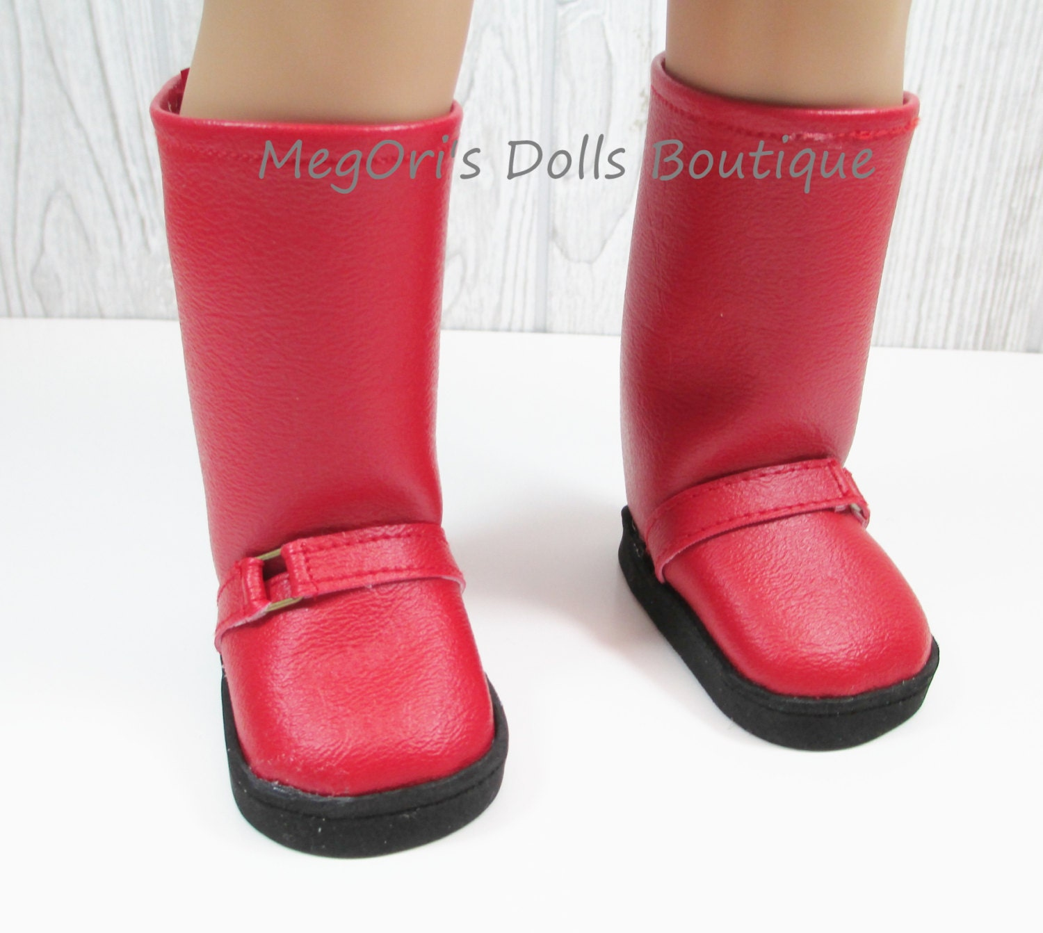 "American girl dolls 18"" dolls boots red"
