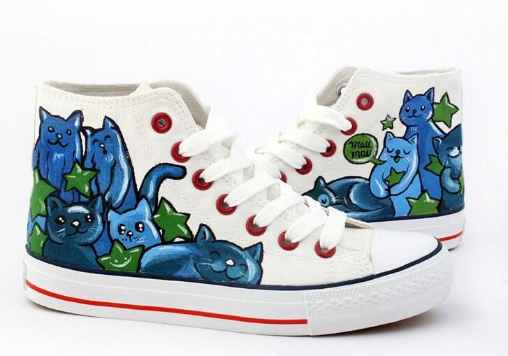canvas shoes cat shoes custom converse cat shoes