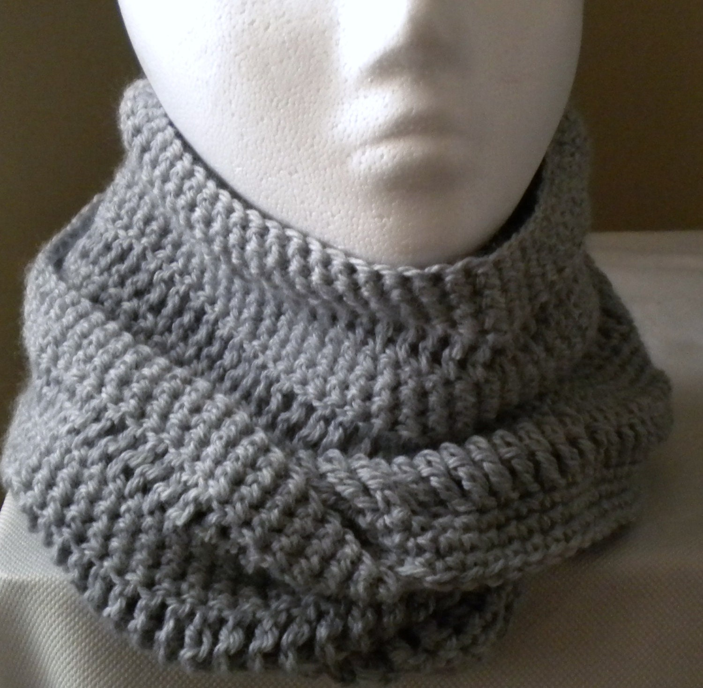 Crochet INFINITY SCARF PATTERN Mobius Twist by PrimrosePatterns