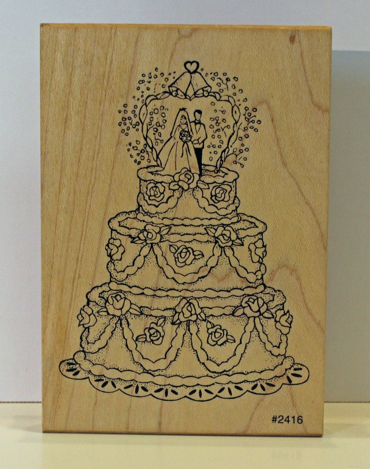 WEDDING CAKE Huge Rubber Stamp By PollysPlace On Etsy