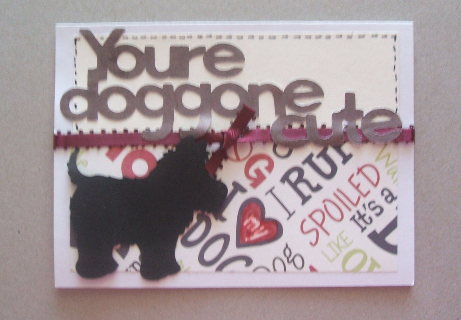 Doggone Cute Valentine - A2 card