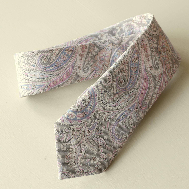 Paisley tie  Liberty print tie Felix and Isabelle  wedding tie  mens tie  paisley wedding tie