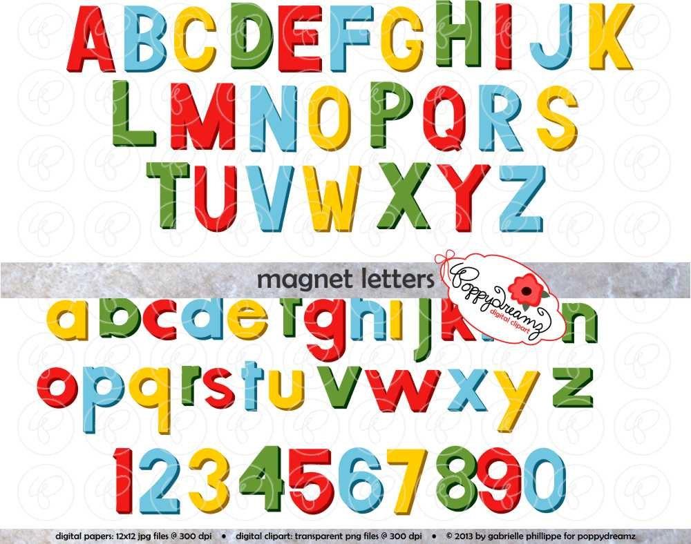 Fridge Clip Magnets Magnet Letters Alphabet Clip
