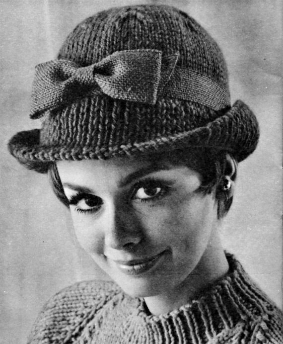 Knitting Pattern Vintage Hat : Vintage Tailored Hat 1960s Hat Pattern Vintage by ...