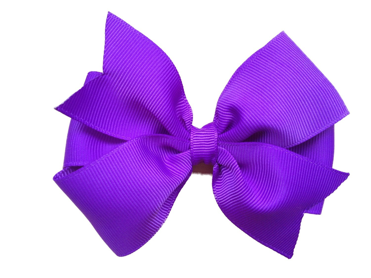 Purple hair bow 4 inch purple bow girls by BrownEyedBowtique