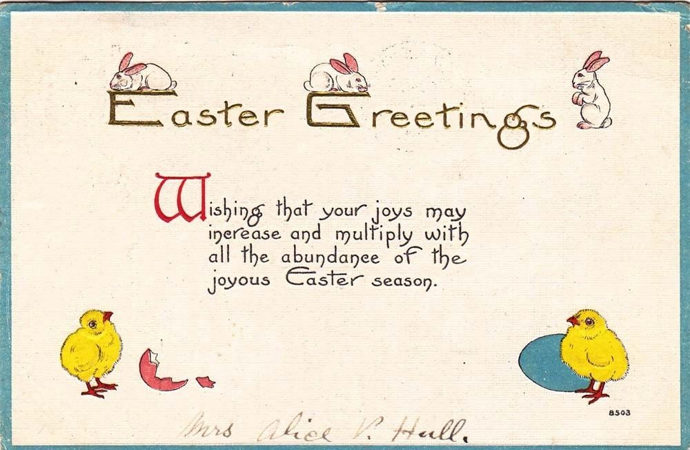 Vintage Easter Post Card Early 1900s epc446