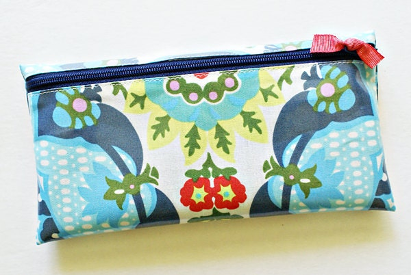 Cash envelope system budget wallet with 6 tabbed dividers //  navy, green, turquoise, red, blue, pink floral