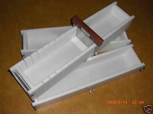 Soap Mold 5 to 6 Lb No Liner Soap Molds & Soap Tray Bar Loaf Slicer ...
