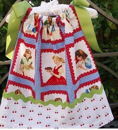 Pretty as Pie Retro Pillowcase Toddler Dress etsykids team - cre8tive