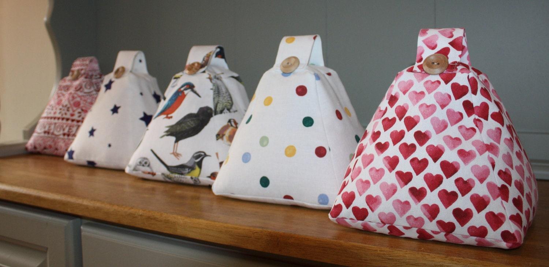 Handmade Fabric Doorstop Door stop in Emma Bridgewater Fabrics Birds / Hearts / Polka Dot / Starry Skies / Sampler