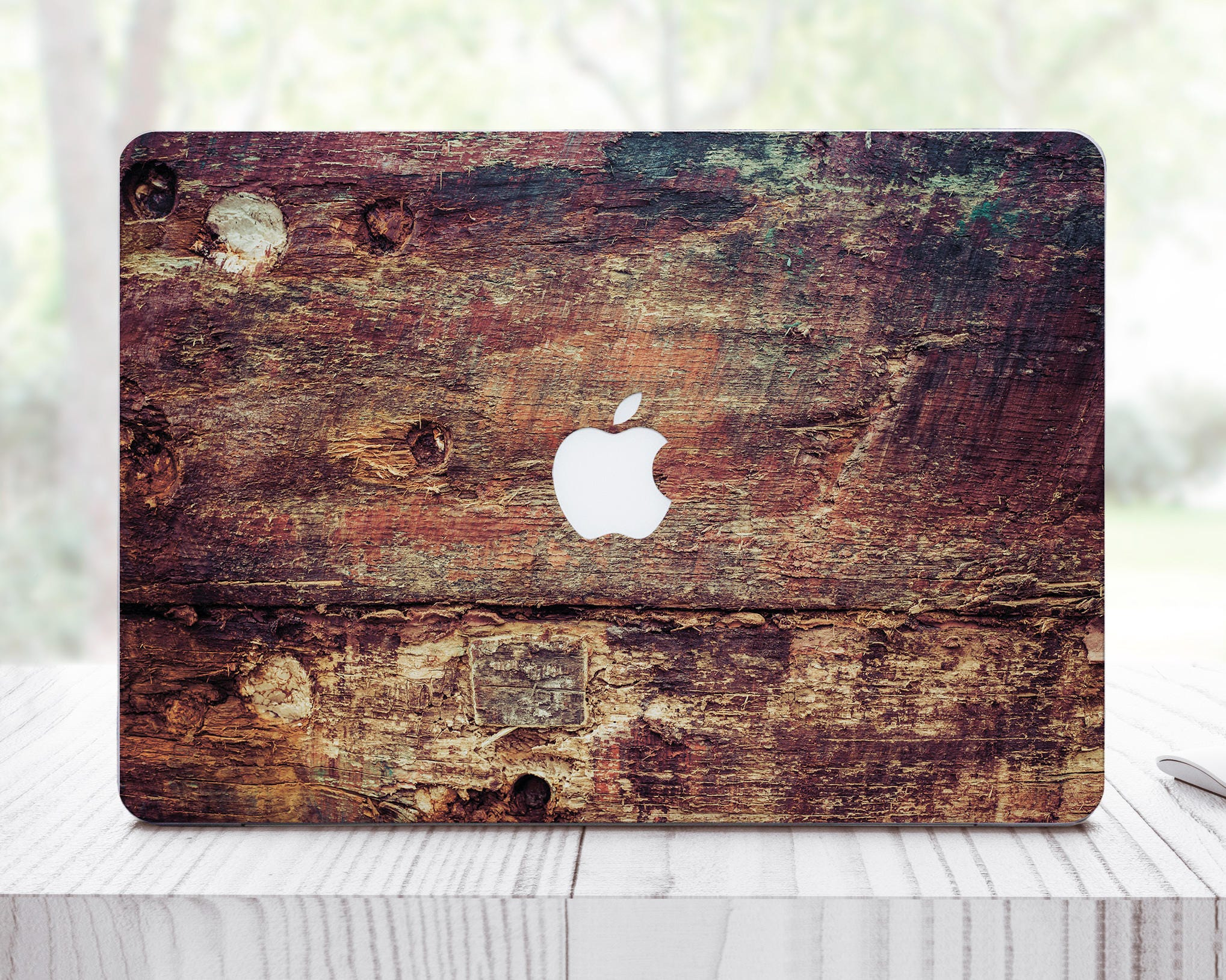 Wooden Decal MacBook Pro Retina Sticker MacBook Pro Retina 15 Sticker MacBook Air 13 Inch Mac Book Cover Laptop Cover Mac Decal ES0004
