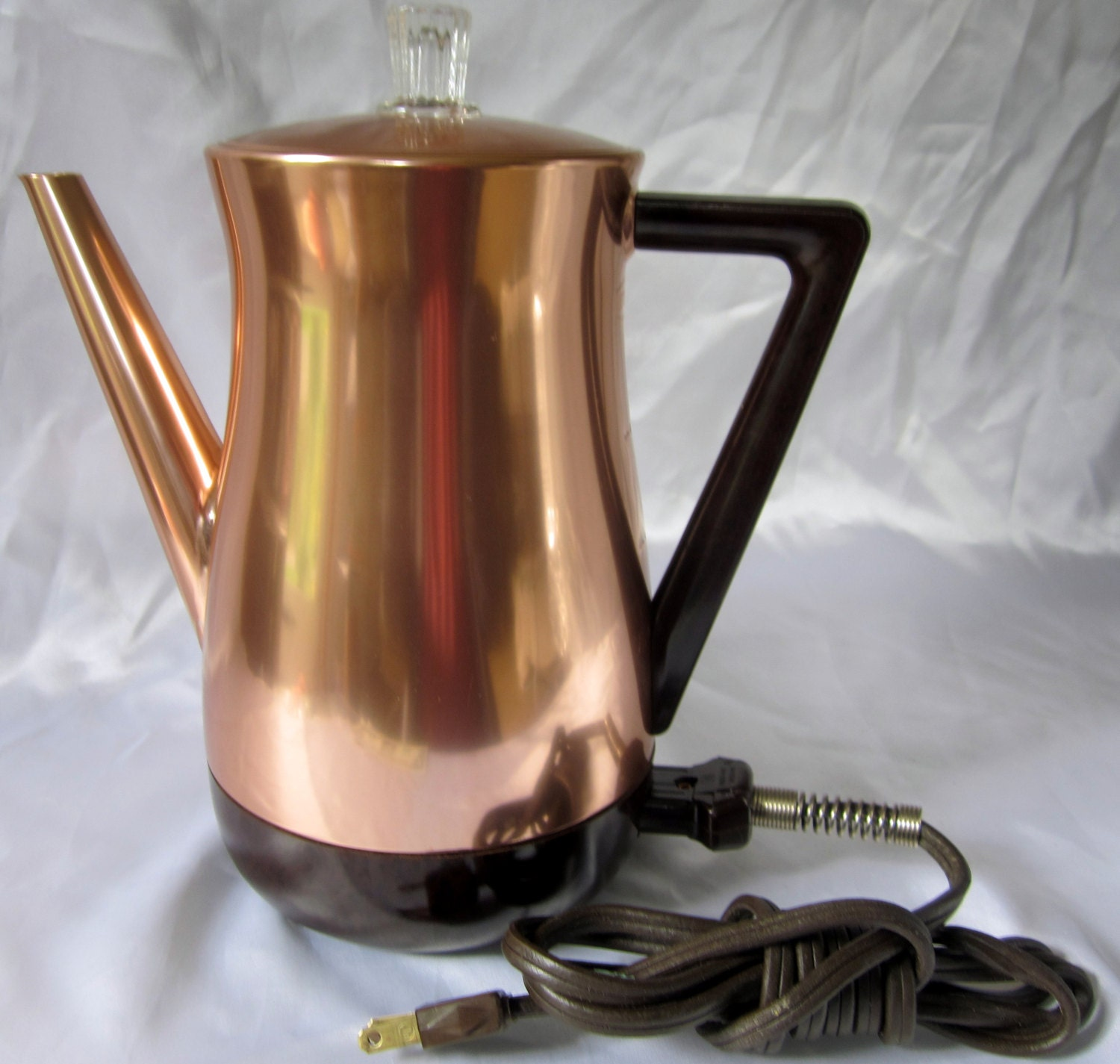 Electric Coffee Pot Percolator West Bend Copper New Flavo