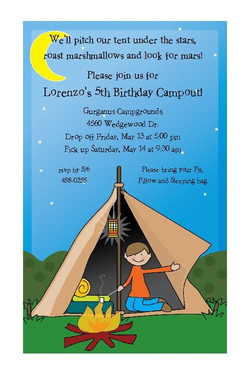 Campout Birthday Party Invitations is luxury invitation ideas