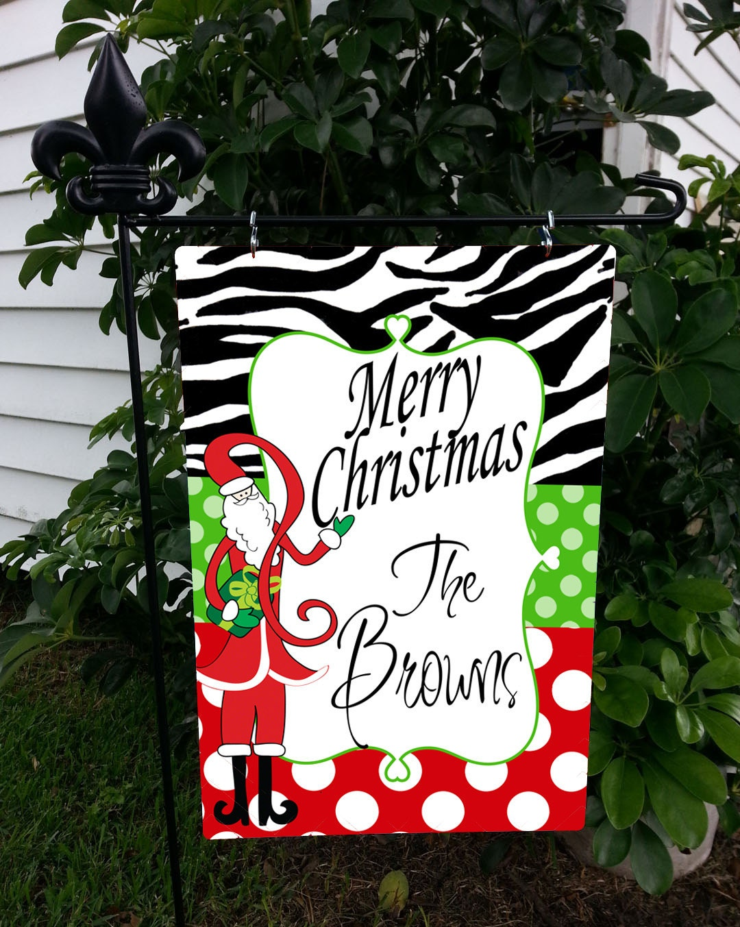 Personalized Garden Flag Monogrammed Christmas By
