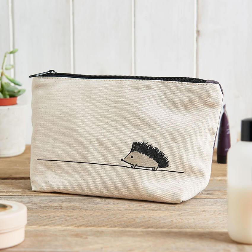 Hedgehog Zip Bag Hedgehog Makeup Bag Hedgehog Travel Bag Hedgehog Pencil Case Gift for Hedgehog Lovers Hedgehog Lover Gifts