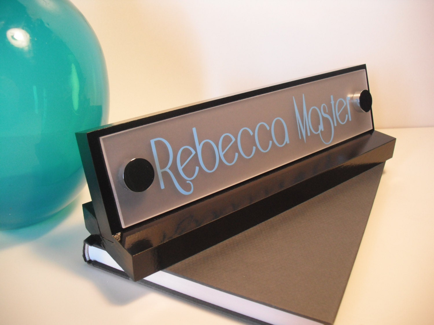 Desk Sign and Name Plate Personalized Wood Mothers by