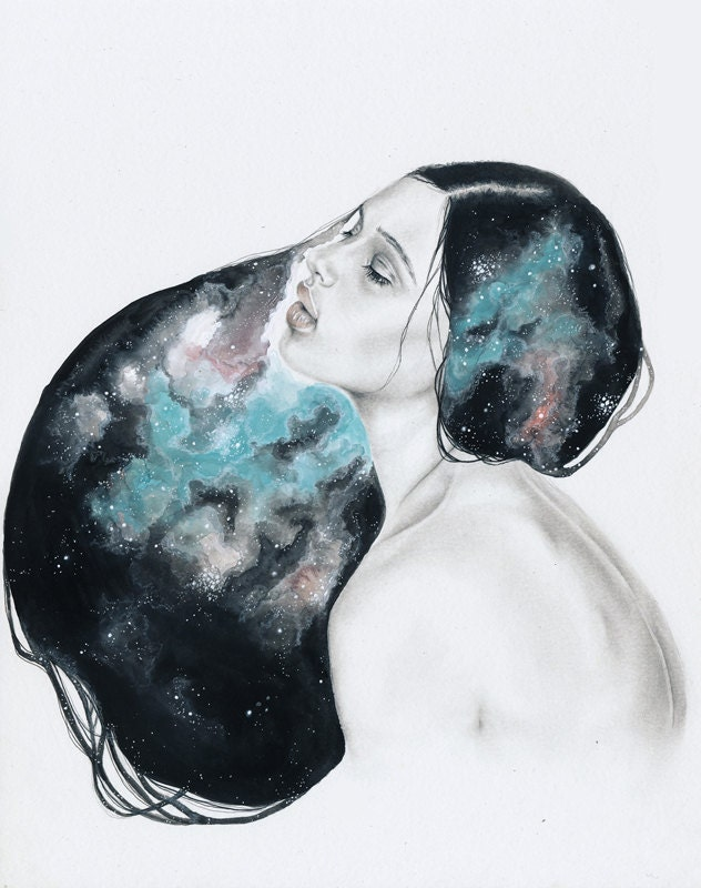 universes (two) | open edition print - HallieElizabethArt