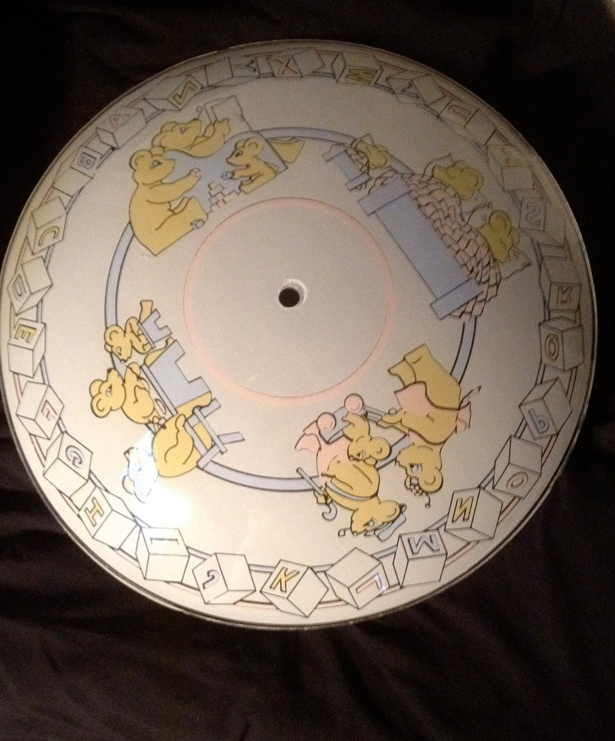 Vintage Nursery Ceiling Mount Light Cover By