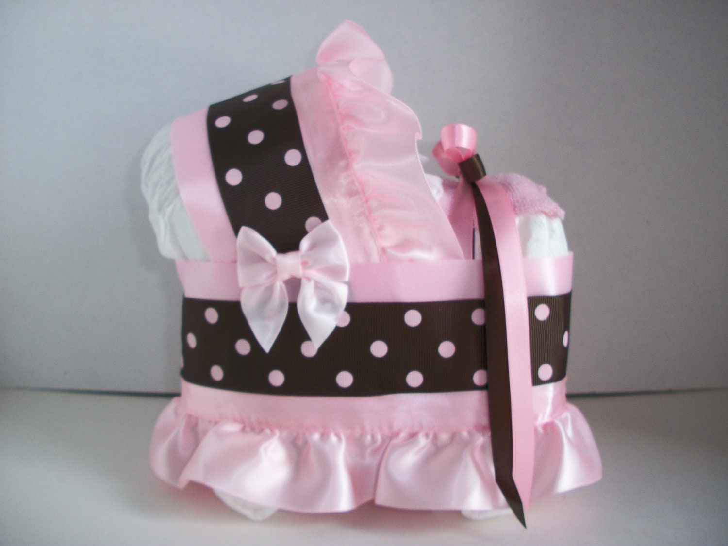 Popular items for pink and brown polka on Etsy
